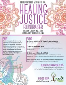 Healing Justice FCCAN Fundraiser @ Historic Cherry Mill Farm  | Fort Collins | Colorado | United States