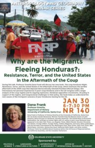 "Public Lecture: ""Why are the Migrants Fleeing Honduras?: Resistance, Terror and the United States in the Aftermath of the Coup."" @ Colorado State University"