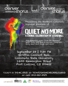 Quiet No More: A Choral Celebration of Stonewall @ CSU Griffin Hall